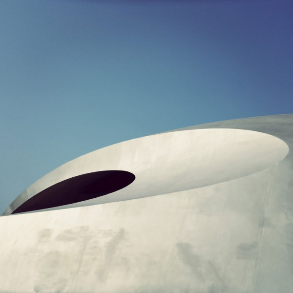 Detailed view of the Porsche Pavilion in Wolfsburg, Germany by HENN Architects.