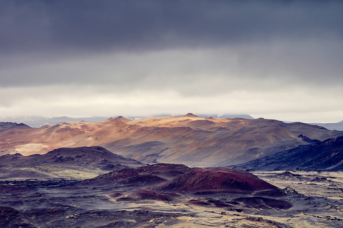 Landscape photographs taken by Andreas Levers during a road trip around Iceland.