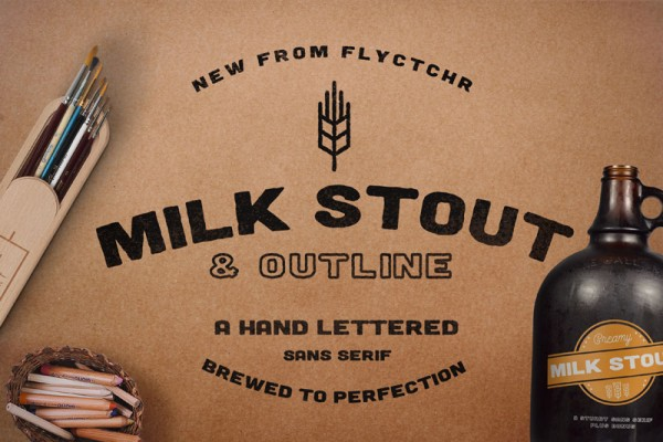 Milk Stout is a hand letterd sans serif which has been brewed to perfection.