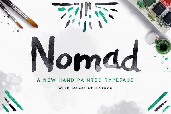 Nomad is a hand painted typeface with loads of extras.