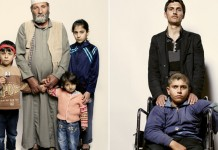 Portraits of refugees from Syria captured by photographer Peter Hapak.