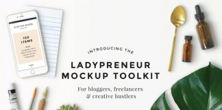 The Ladypreneur Mockup Creator Toolkit from Station Seven.