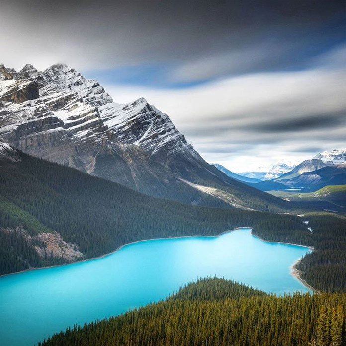 The magical color of Peyto lake.
