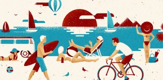 We think vacations are for wimps. Editorial illustrations by Andriy Muzichka.
