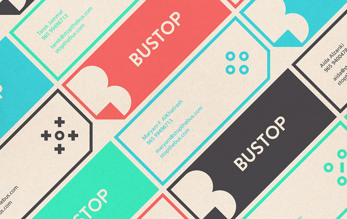 BUSTOP brand identity design by Firas Said, an art director from Kuwait.