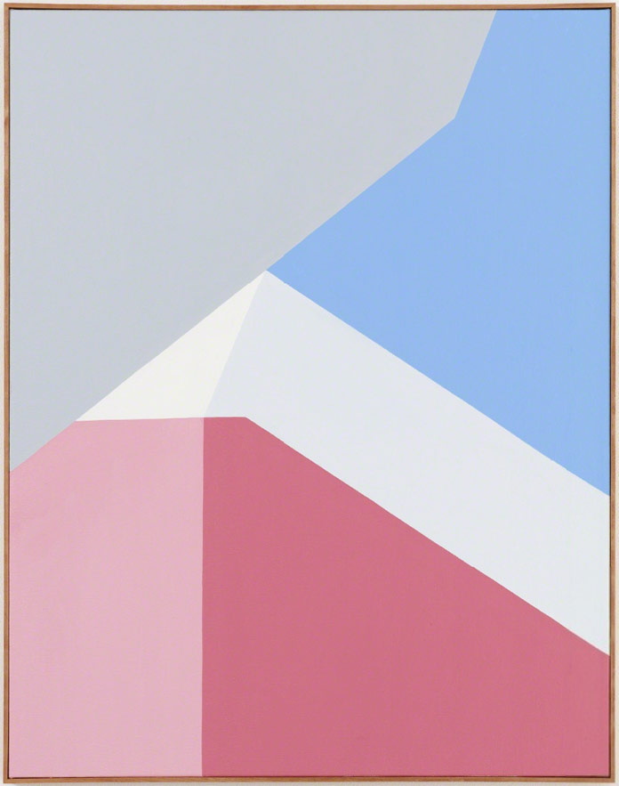 1 clare rojass recent paintings are based on pure geometric abstraction