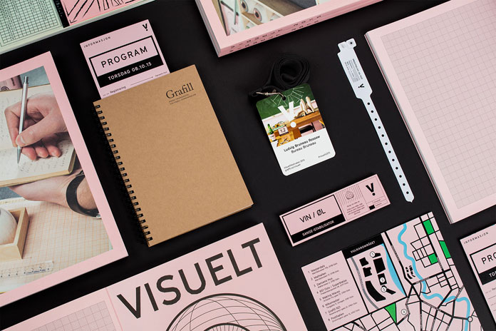 Event and communication design by Ludvig Bruneau Rossow for the Visuelt Festival 2015.