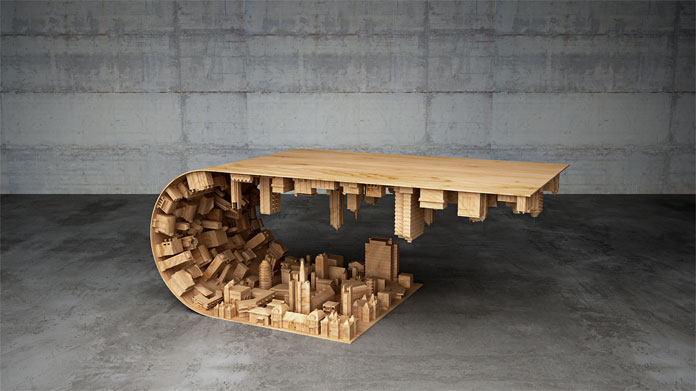 The Wave City Coffee Table by designer Stelios Mousarris.