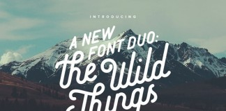 The Wild Things font duo by Victor Barac is based on a handcrafted vintage type design.