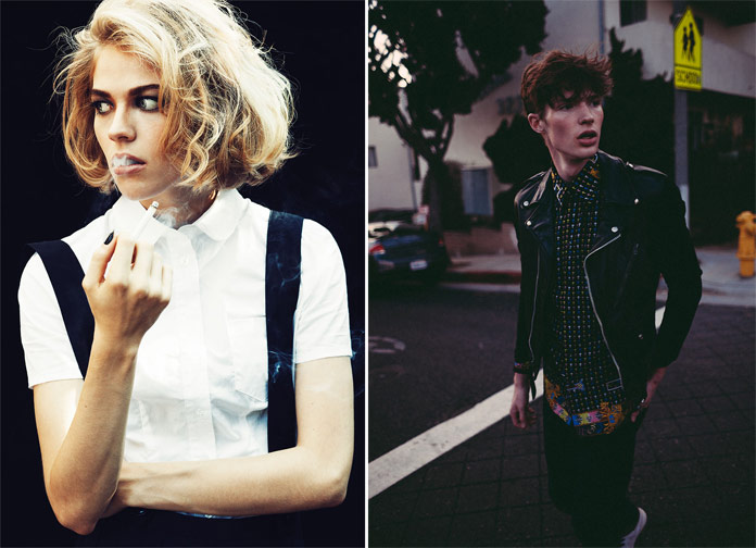 Images by Aaron Feaver from two different fashion shoots with Chaun Loose and Tyler McFerson.
