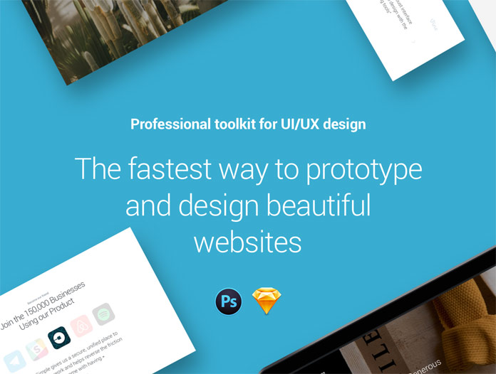 Professional toolkit for UI/UX design. The fastest way to prototype and design beautiful websites.