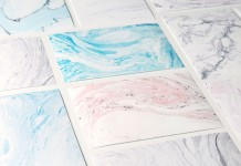 Suminagashi marbled stone textures stationery cards.