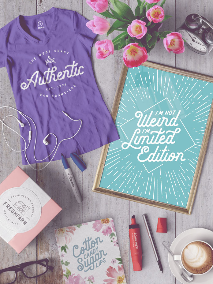 Create stylish t-shirts or typographic posters with the Wild Things font duo.
