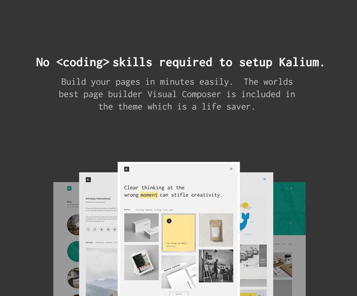 No coding skills are required to setup Kalium.