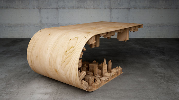 Designer Stelios Mousarris says this table draws inspiration from a film. Guess, what movie could it be?