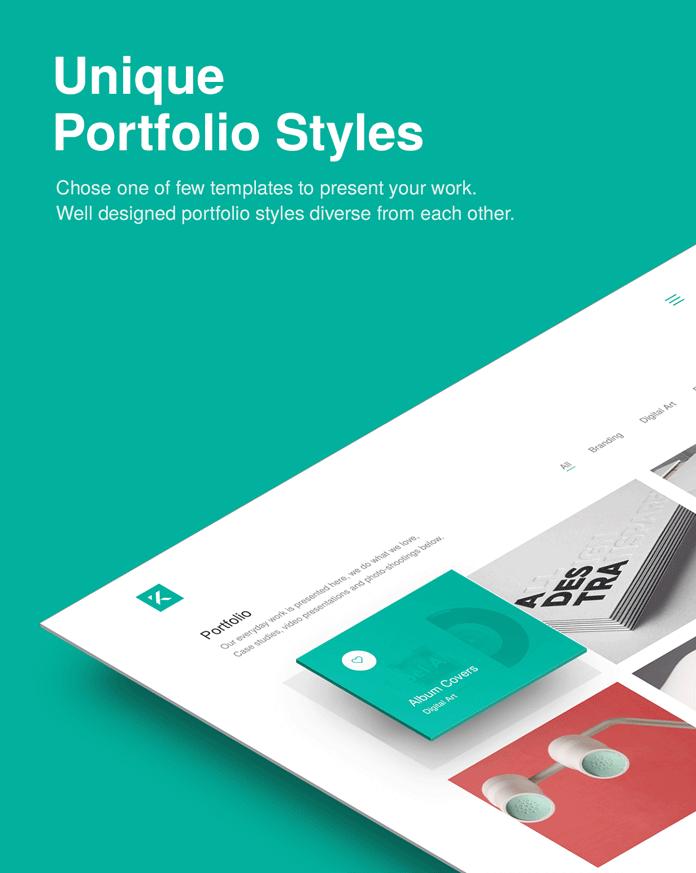 Unique portfolio styles.