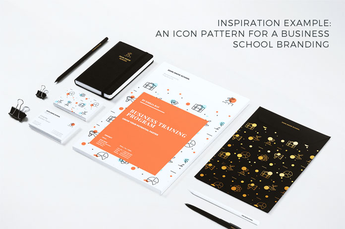 Inspiration example: A graphic pattern for a business school branding.