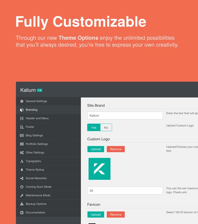 Fully customizable.