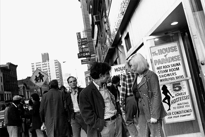 Street scene from a series of photographs depicting the New York City of the 1970s.