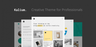 Kalium, a creative WordPress theme for professionals.