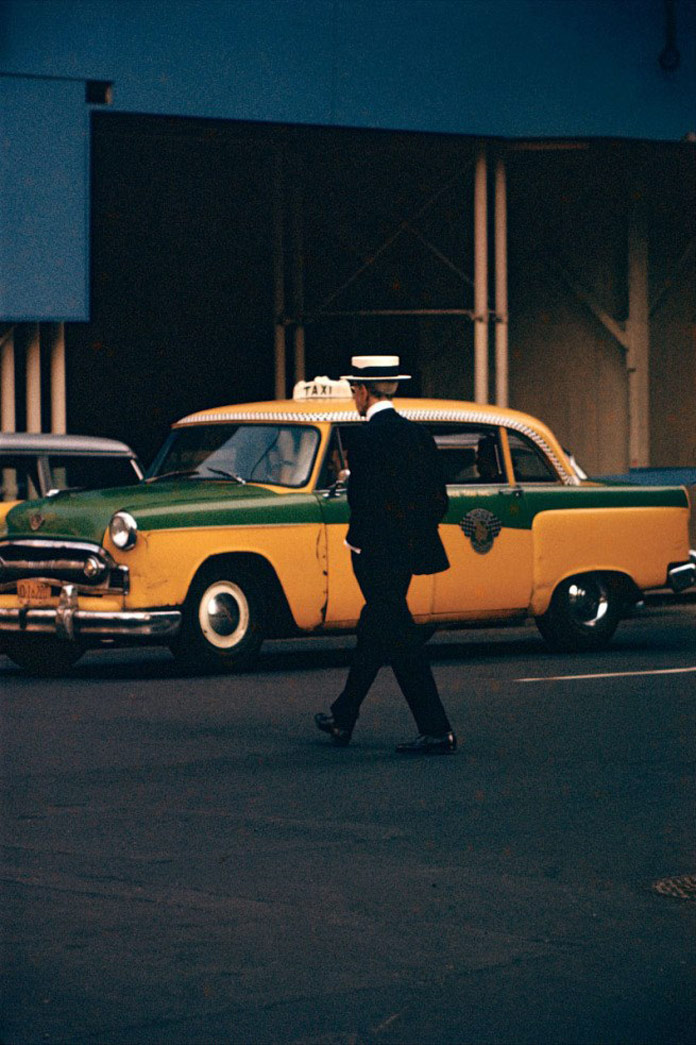 Man with Straw Hat, image taken by Saul Leiter.