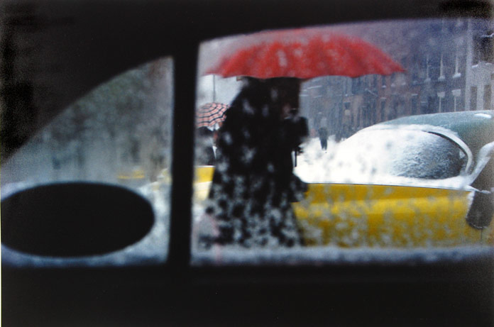 Photo taken by Saul Leiter out of a car.