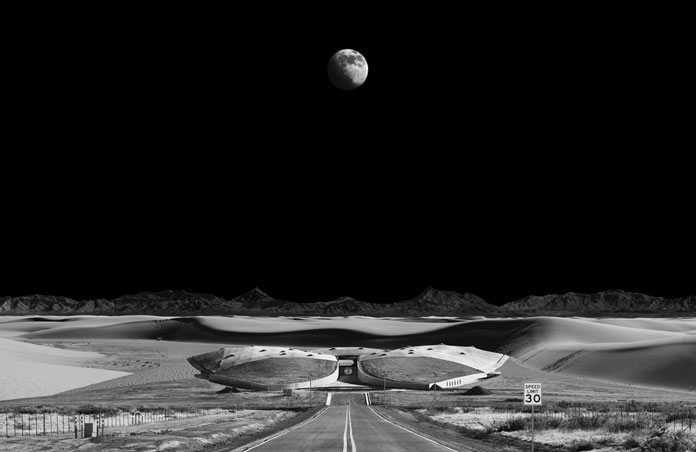 Spaceport, work from a series of large-scale photographs.