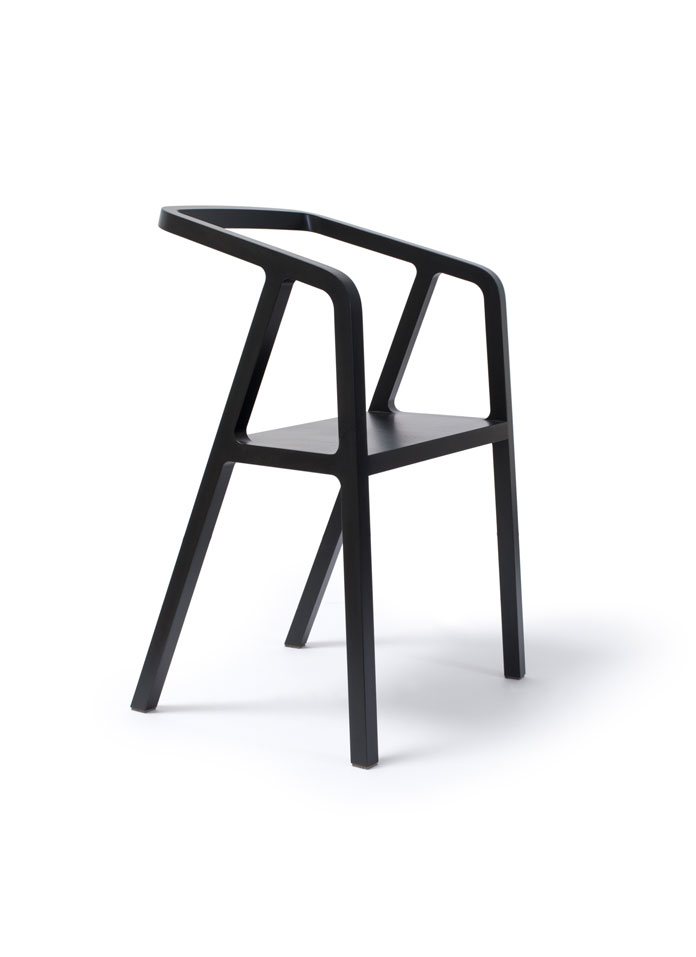 Black edition of the A-Chair by Austrian industrial designer Thomas Feichtner.