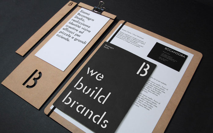 Bocanegra Studio brand identity design.