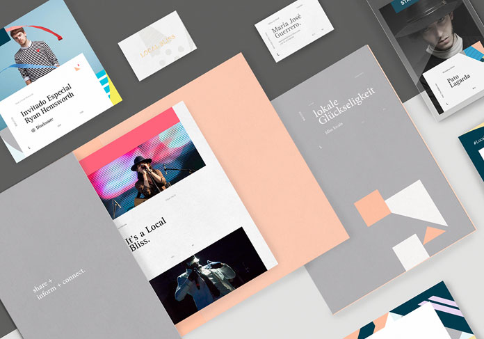 Local Bliss – branding and web design by studio Sabbath for a newly established online magazine.