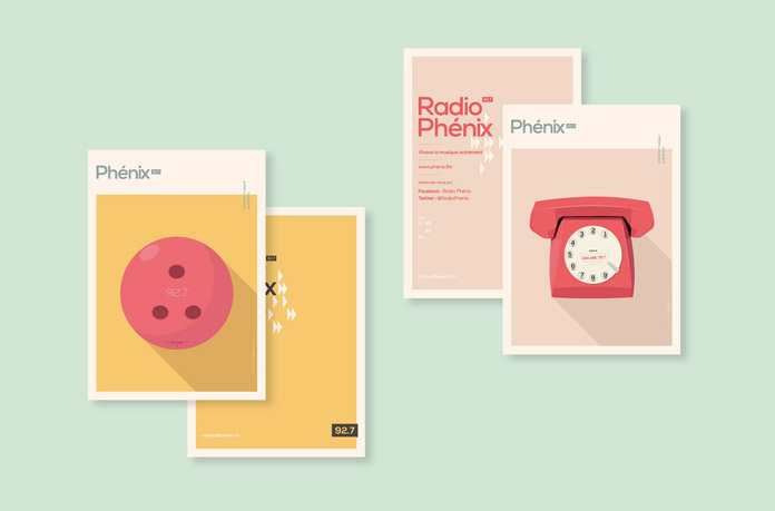 Radio Phénix brand identity and campaign communication by Murmure.