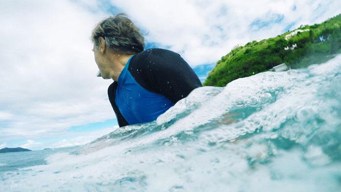 Surf and graphic design legend David Carson.