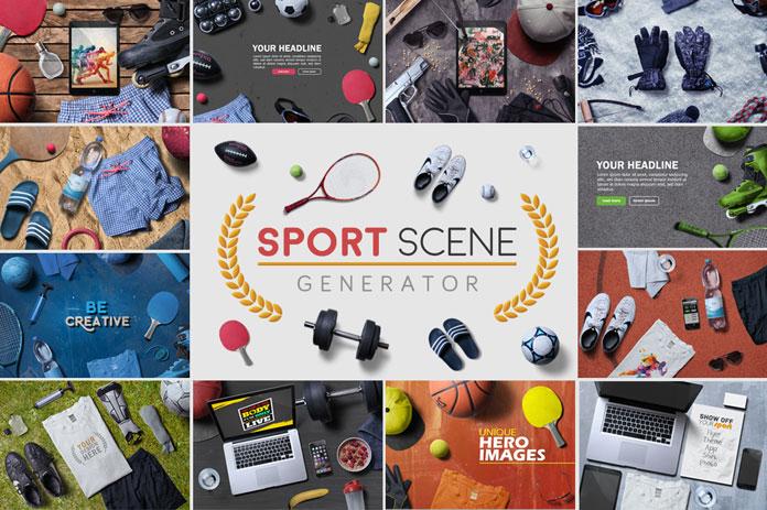 The Sport Scene Generator by Simon Henke of h3design.