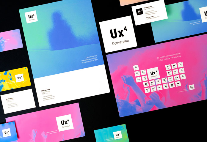 Ux4Conversion - brand design by Graphéine.
