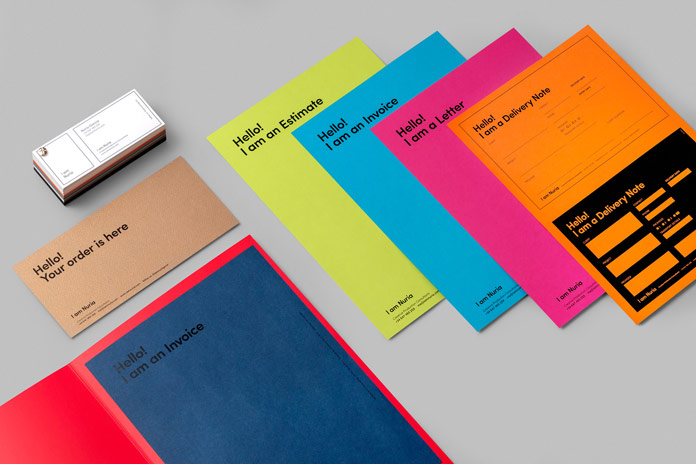 Visual identity design by Barcelona based studio 'sr. y sra. wilson' for creative production consultancy firm 'I am Nuria'.