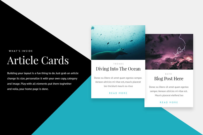 Article cards.