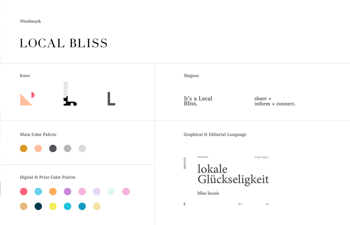 Local Bliss Online Magazine Branding by Sabbath