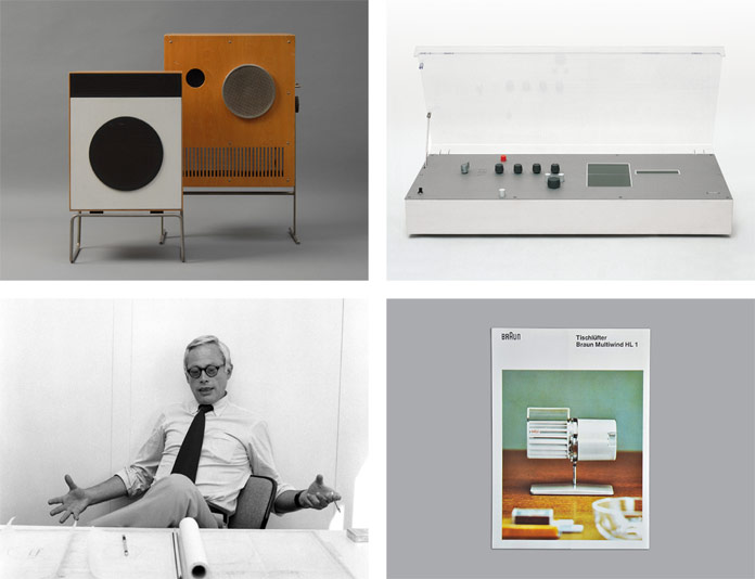 The identity draws inspiration from Dieter Ramps' creations for Braun.