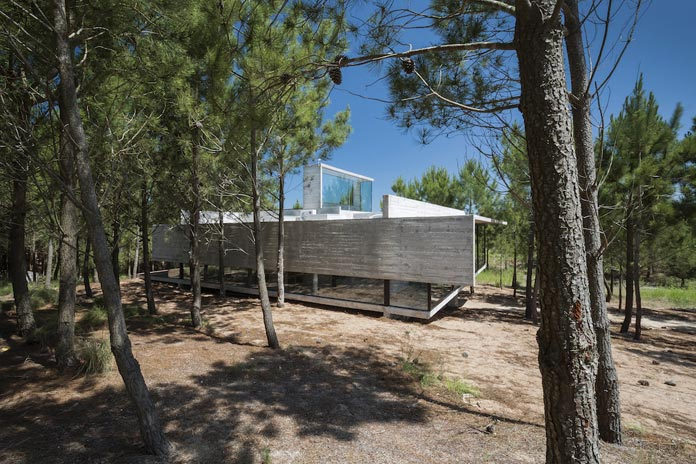 The isolated house on Argentina's Costa Esmeralda was designed by star architect Luciano Kruk.