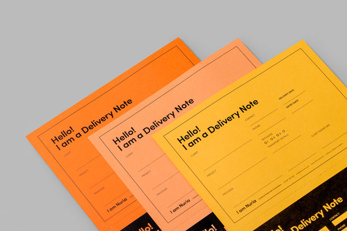 The stationery materials have been printed on Fedrigoni papers.