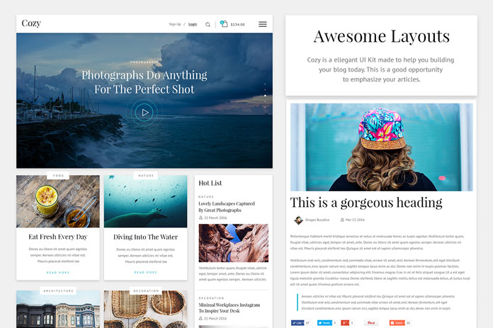 Awesome website layouts.
