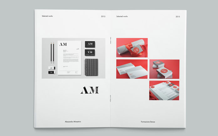 The brochure includes some examples of branding projects.
