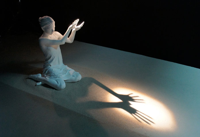 For you a thousand times over, ceramic sculpture and light installation.