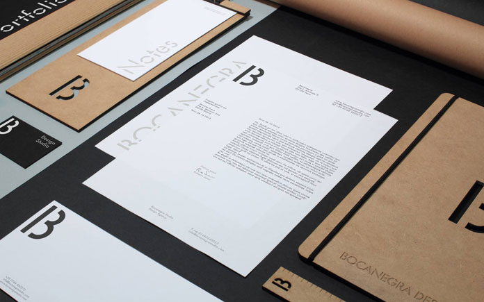 Letterheads and branding materials.