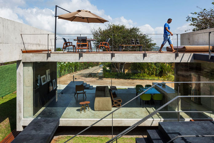 Architect Yuri Vital has designed the house with a rooftop terrace.