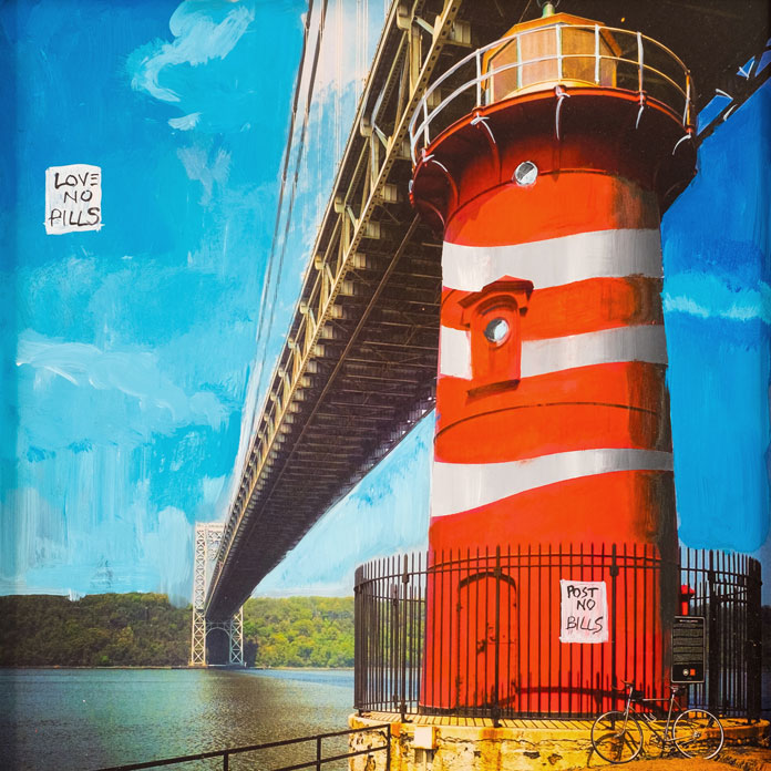 Little Red Lighthouse - photo and painting.