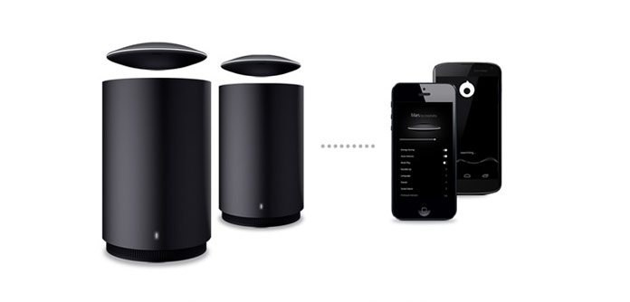 Pair two Mars speakers together with the Mars app.