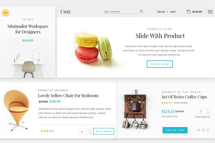 Web shop layouts.