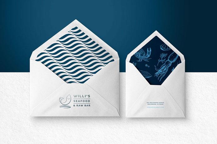 Envelopes in two sizes.