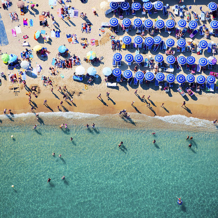 Blue Umbrellas, 2014 - Saint-Tropez, France.